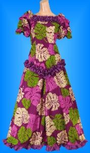 フラダンス衣装ムームー MU03pu3の詳細画像を見る