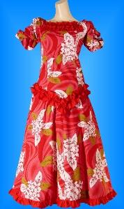 フラダンス衣装ムームー MU03r8の詳細画像見る